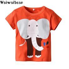Waiwaibear Summer  Baby T-shirts Kids Pure Cotton Short Sleeve Clothes XN37