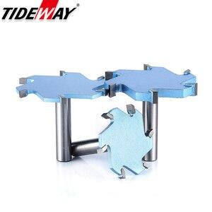 Image 3 - Tideway 1/2 Schacht 6 Fluiten Groef Steken Frees Cnc Tool Voor Hard Hout Snijders T Type Slot Houtbewerking Router bit