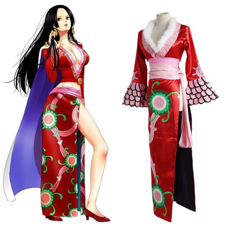 Anime One Piece Cosplay Costumes Boa Hancock Female Emperor Cheongsam Cosplay Costume Halloween Party Game Women Dresses Cloak