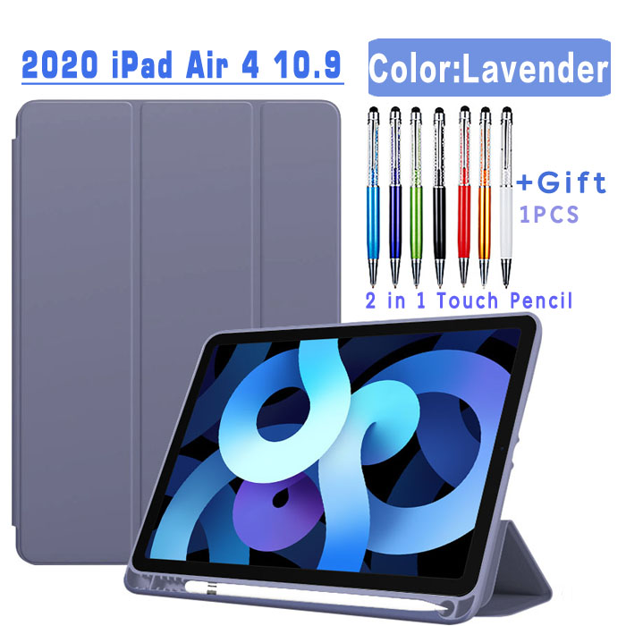 Flip Case-Lavender Yellow Magnetic Case For iPad Air 4 2020 10 9 inch flip case with Pencil Holder For