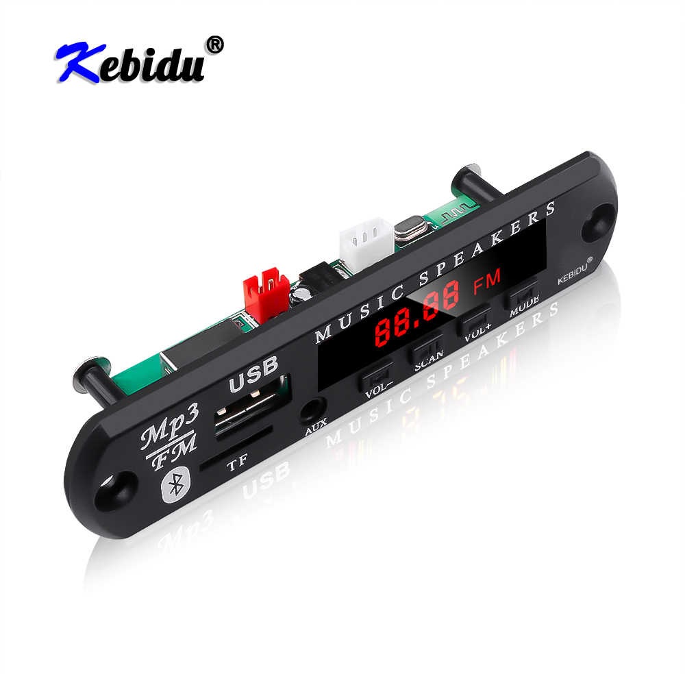 Kebidu 5V 12V Senza Fili Lettore MP3 Scheda di Decodifica Modulo Bluetooth 5.0 Amplificatore TF Radio USB Per Auto Radio altoparlante Car Audio Kit