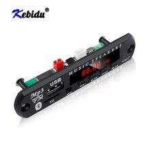 Kebidu 5v 12vワイヤレスMP3プレーヤーデコーダボードモジュールbluetooth 5.0アンプtfラジオusbカーラジオオーディオスピーカーカーキット