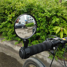 Uniwersalny rowerowy boczne lusterka motocykla kierownica szerokokątny wypukłe lustro jazda na rowerze widok z tyłu 360 obrót regulowany wysokiej jakości
