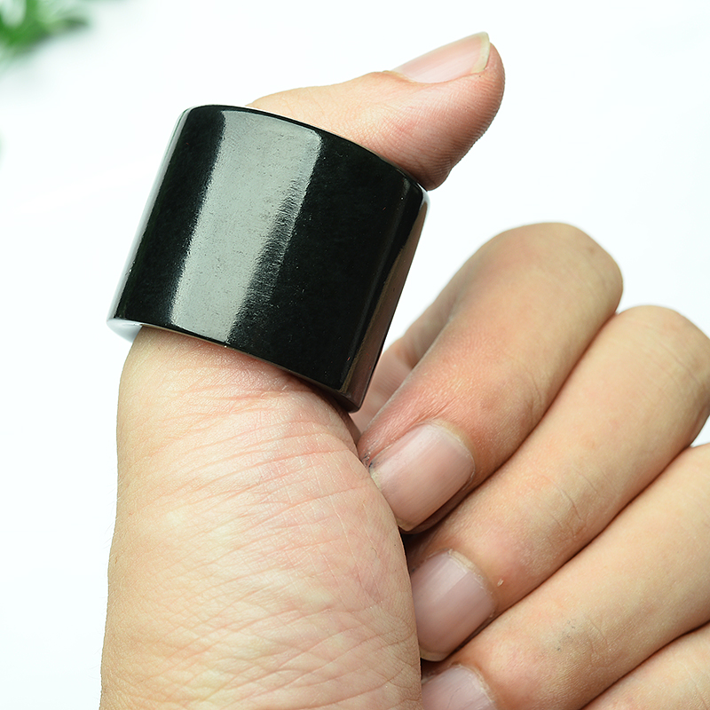 New Natural Hotan Jade BanZhi Men's Domineering Jade Stone Ring Jewellery Gift