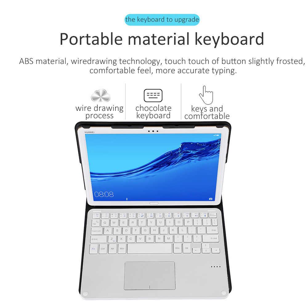Bluetooth מקלדת עבור Huawei M6 דק להסרה אלחוטי Bluetooth מקלדות עור מקרה עבור Huawei M5/M5 פרו 10.8-inch
