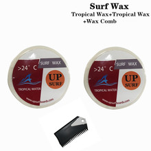 Surf wax Tropical Wax+Tropical wax +surf wax comb Surfboard wax High quality wax long sleeves striped pullover knitwear