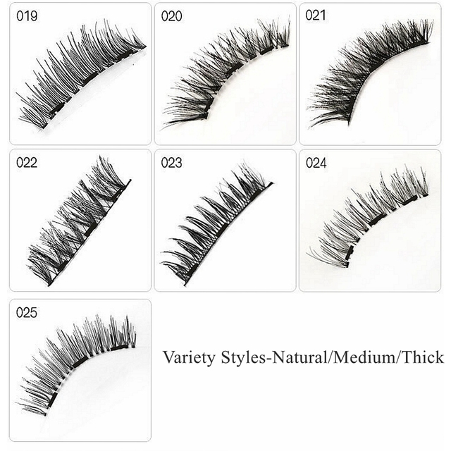Magnetic Eyelashes with 3 Magnets,No Glue 3D Mink Natural Magnetic Eyelash,pestañas magneticas,cils magnetique,cilios magnetico 5