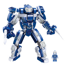 цена на Lepining Marvel Iron Man Hulkbuster War Machine Building Blocks Super Heroes Avengers Infinity War Children Kids Toys Gifts