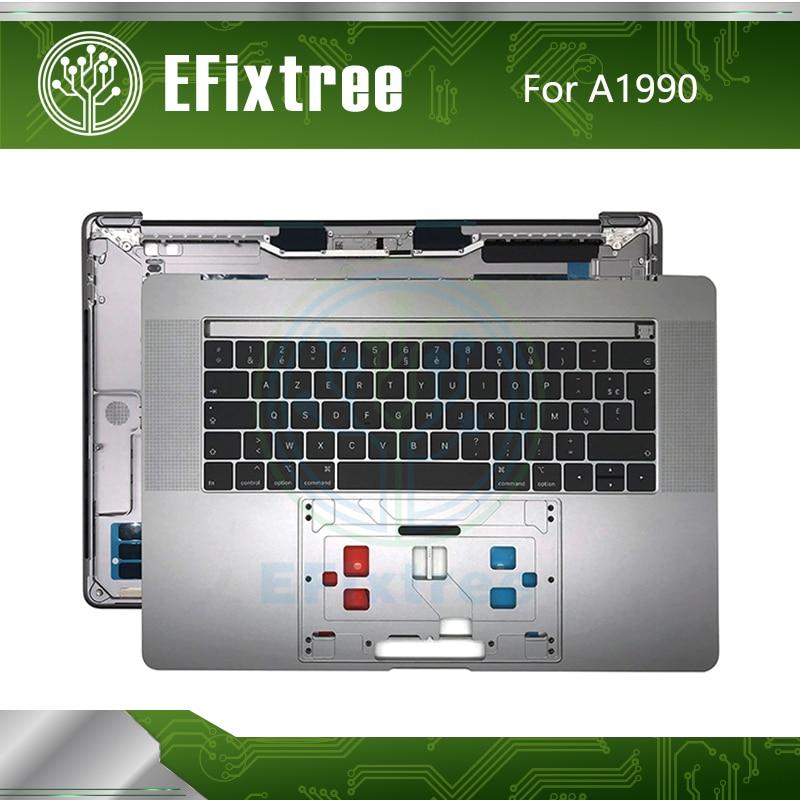 A1990 boîtier supérieur avec clavier disposition française pour Macbook Pro 15 ''Plamrest espace gris mi 2018 année EMC 3215 3359