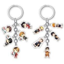 Anime Haikyuu Kageyama Hinata Kenma Kozume acrylique Figure porte-clés porte-clés décor Collection modèle jouet Cosplay porte-clés cadeaux