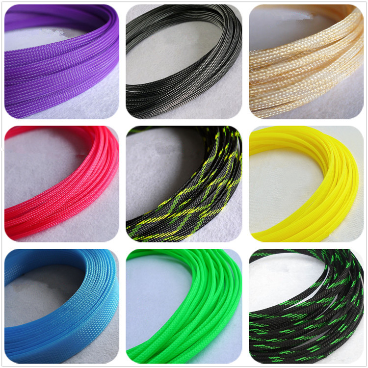 8mm 27 Color Braided Sleeving Cable Harness Sheathing DENSE PET Expanding Sleeve