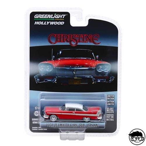 Greenlight Hollywood Christine 1958 Plymouth Fury Evil Version