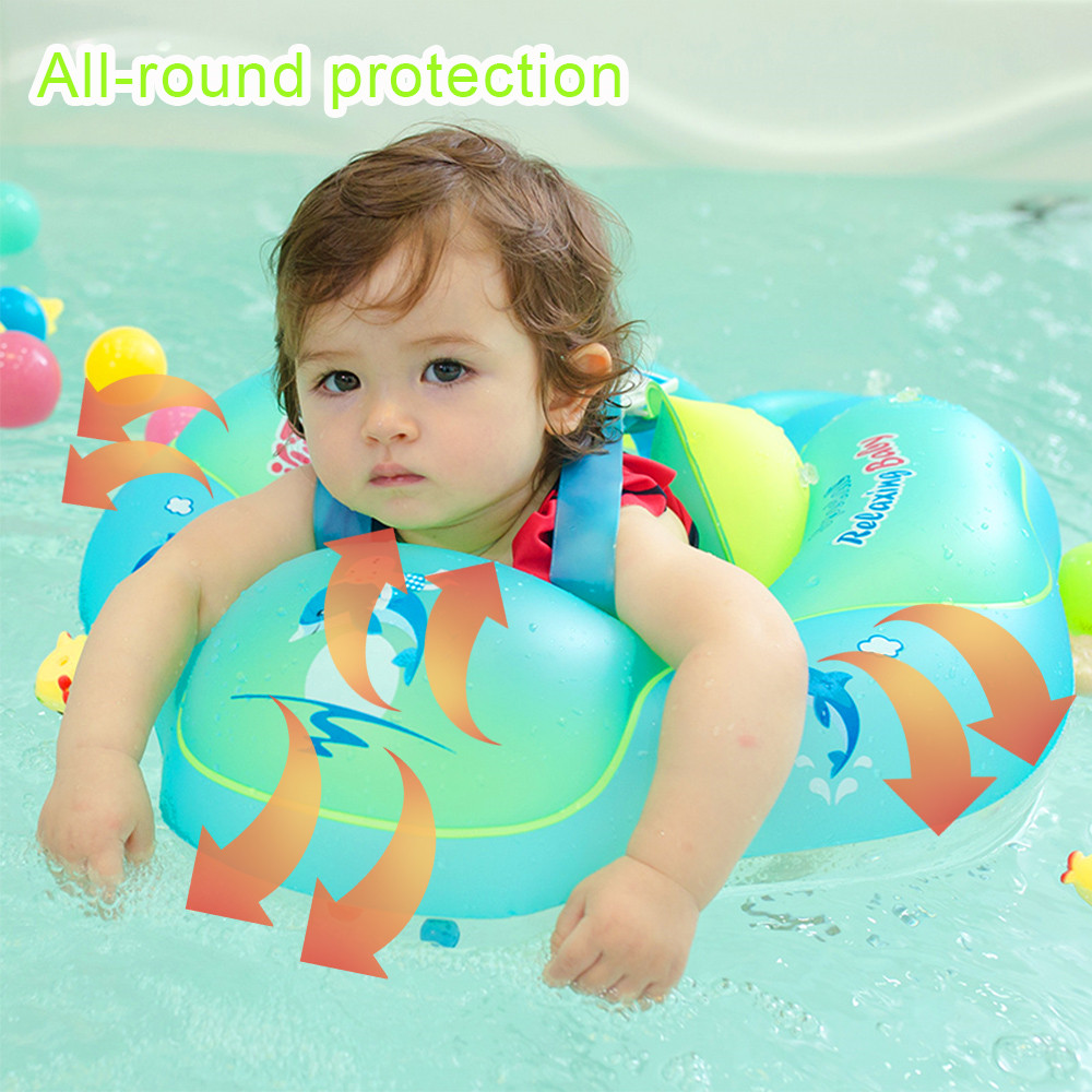 Image 2 - Baby Swimming Ring Inflatable Kids Bath Swim Circle Infant Swim Pool Floating Child Double Raft Safety Ring Water Zone ToySwimming Rings   -