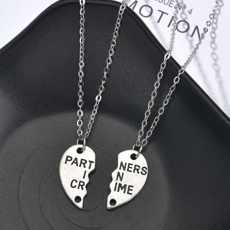 2 Cái/bộ Người Bạn Thân Nhất Cổ Choker Nữ Cầu Vồng Trái Tim Khắc Người Bạn Thân Nhất Mãi Mãi Vòng Cổ Mặt Dây Chuyền Tình Bạn BFF Món Quà Trang Sức