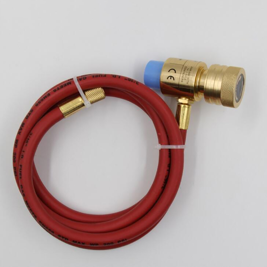 With Gas 5 Ignition Swirl Safety 1 Torch Self Gas Handheld Flame Head Welding Brazing Flame Meters Hose Lock Torch Propane