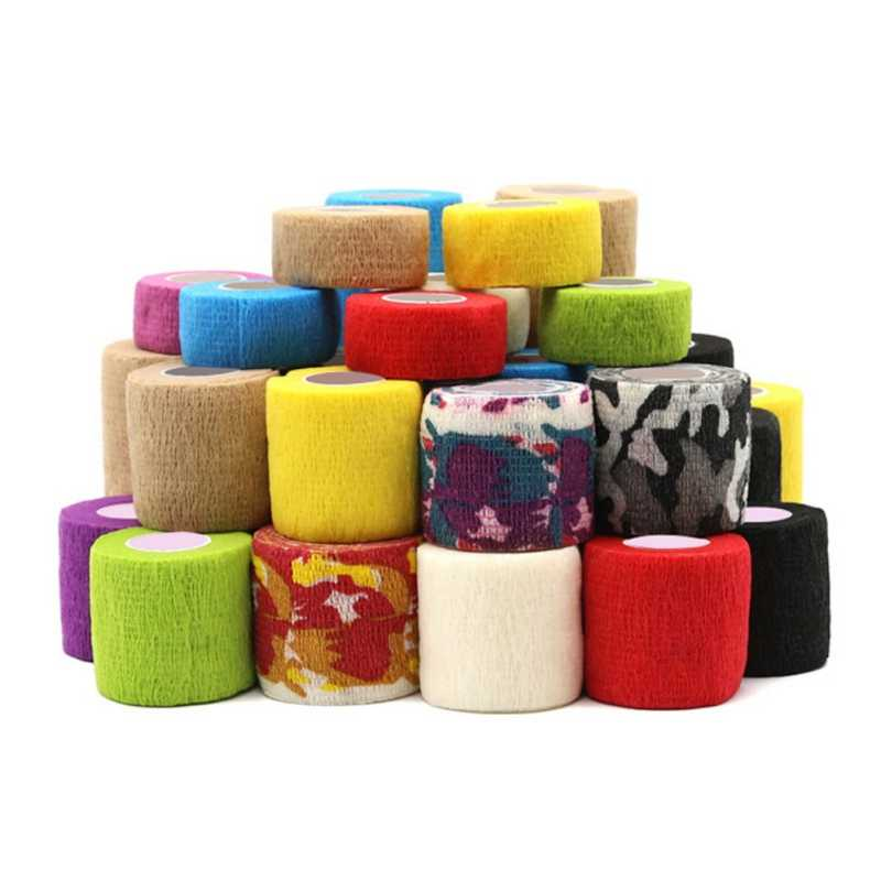 Hot Colorful Sport Self Adhesive Elastic Bandage Wrap Knee Ankle