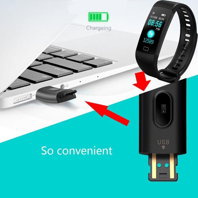 Fitness femmes hommes Bracelet intelligent Bluetooth fréquence cardiaque pression artérielle podomètre horloge LED Sport Bracelet montre pour Android IOS