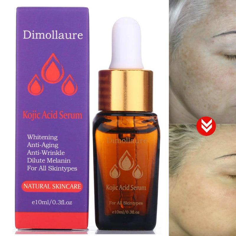 Dimollaure Kojic Acid Serum Hyaluronic Acid Whitening Removal Scar Freckle Melasma Acne Scar Pigment Sunburn Melanin Serum