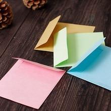 10pcs 8Color Square Blank Envelopes 100*100mm Greeting Cards Mini CD Envelopes card Wedding Invitation