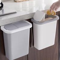 Caixote do lixo montado na parede da lata de lixo da cozinha com tampa sno88|Cestos de lixo| |  -