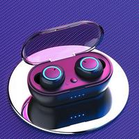 NOKEVAL-auriculares inalámbricos Y50 con bluetooth 5,0, dispositivo de audio TWS, estéreo, para videojuegos, con caja de carga para teléfono