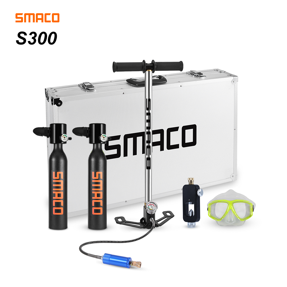 Smaco Scuba Diving Tank Equipment Mini Scuba Dive Cylinder Scuba Diving Snorkel Oxygen Tank Dive Scuba Underwater 7 Min 0.5L