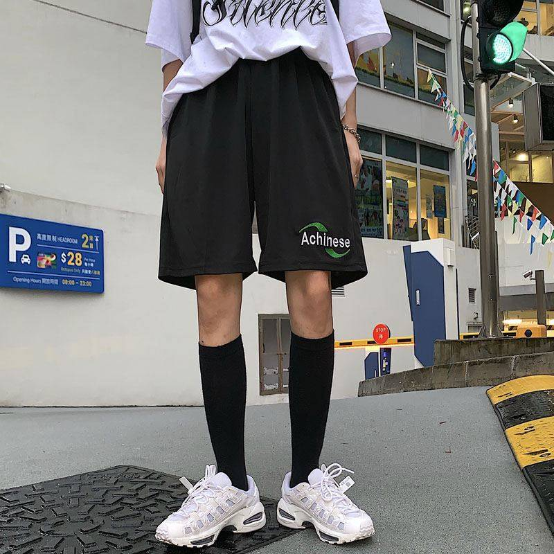 NiceMix Korean Tide Harajuku Vintage Casual Dropshipping Regular Loose Big Size Straight BF Pantalones Jogger Bike Shorts Female