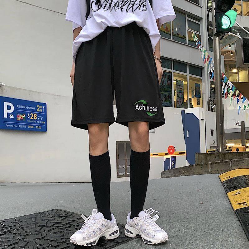 NiceMix Korean Tide Harajuku Vintage Casual Dropshipping Regular Loose Big Size Straight BF Pantalones Jogger Bike Shorts Female