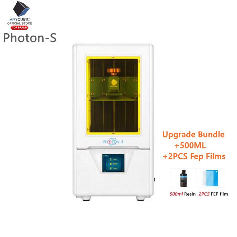 US ANYCUBIC SLA PhotonPhoton S Dual Z-axis LCD 3D Printer TFT Resin UV light