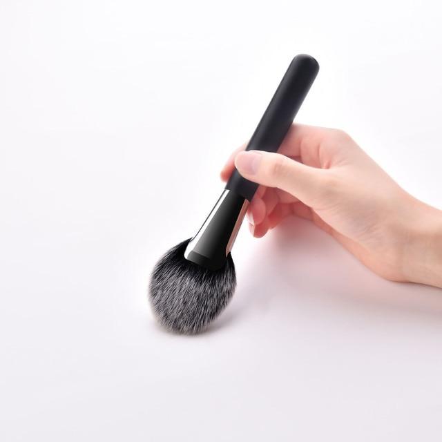 Flat Head Makeup Brush Set 10pcs Face Powder Blush Contour Eyeshadow Beauty Make Up Brush Tools Kit Professional Makeup Brushes