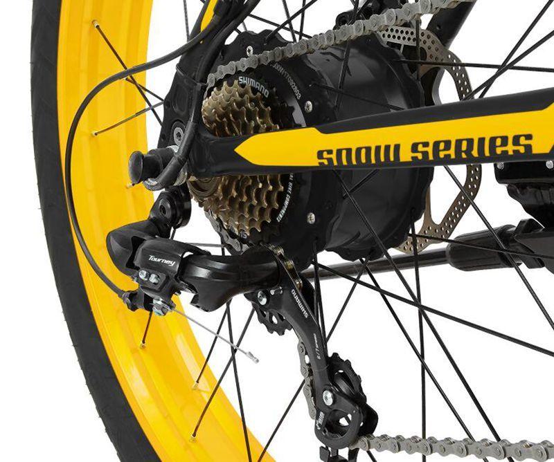 "XF4000 LANKELEISI 26"" 1000w 48v 16AH Panasoni'c Battery electric bike 6"