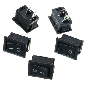 2Pin ON/OFF KCD1-101 10Pcs/Lot Rocker Push Button Mini Switch 10*15mm 117S 2-Pin 250V 3A 125V 6A ON-OFF Black Plastic Dip Switch