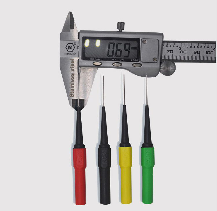 Safe Insulation Piercing Test Needle Non-destructive 2Pcs Probes Tool Set 0.7mm