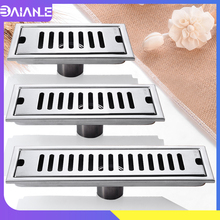 Linear Floor Drains Stainless Steel Floor Drain Cover Large Tile Insert Bathroom Shower Drain Cover Anti-odor Floor Waste Grates цена 2017