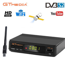 Venda quente freesat v7s receptor de tv por satélite gtmedia v7s hd 1080p com usb wi fi e para espanha europa DVB S2 hd completo sat decodificador