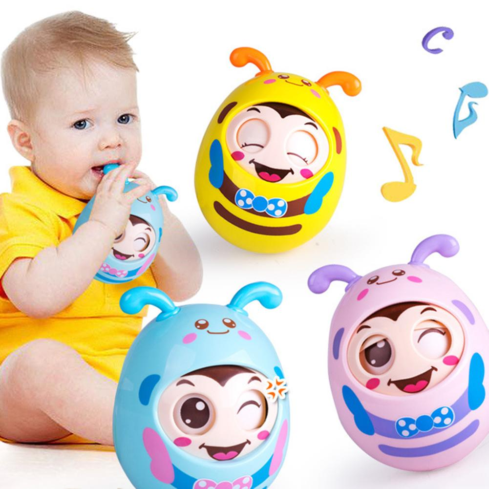 Funny Cartoon Style Wink Nod Sound Tumbler Toy Kids Children Educational Gift Sound Action Figures Toy For Baby Birthday Gifts