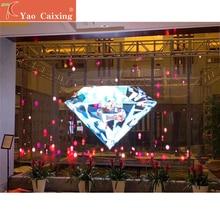 Купить с кэшбэком P3.91 dot matrix transparent curtain screen indoor full color glass window display video wall