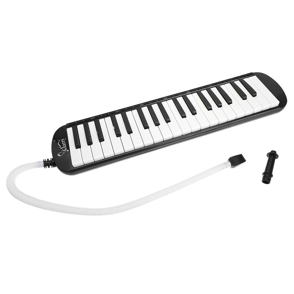 PVC Lightweight 37-Key Melodica With Mouthpiece & Hose & Bag Keyboard Wind Instrument