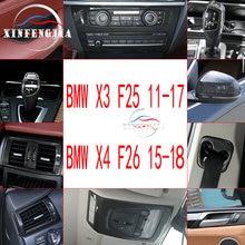 Для BMW X3 X4 F26 F25 11-17 углеродное волокно цвет автомобиля модифицированный декоративный центр вентиляционное отверстие Выход AC переключатель ручка рамка внутренняя отделка