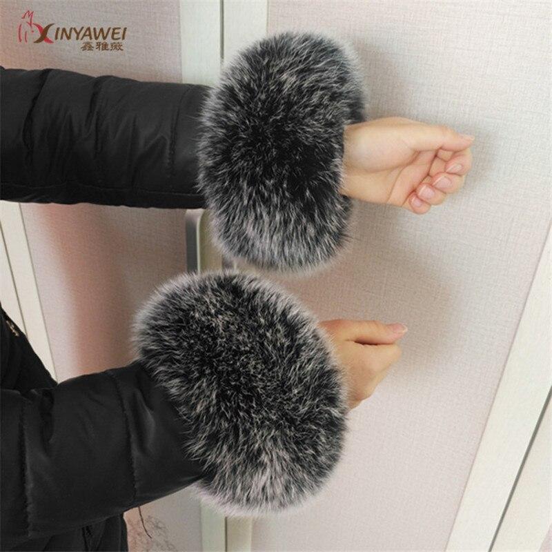 Fox Fur Bracelet Women's Bracelet Real Leather Bracelet High Quality Fox Fur Gloves Great Offer Wrist Warmer Customizable.
