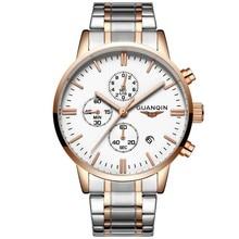 2020 GUANQIN GQ12006 Men Watches Top Luxury Brand Sport Quartz Chronograph Water