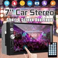 7inch Car Radio Mirror HD Double Din bluetooth Car MP5 Player FM Radio USB AUX Remote Control Rearview Camera Multimedia Player
