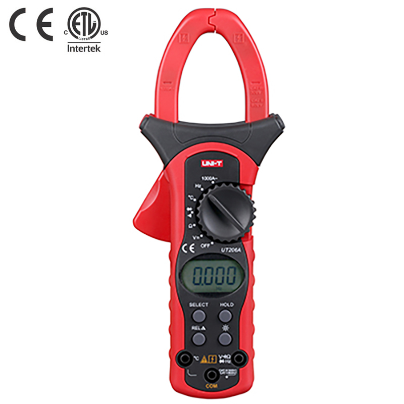 UNI-T UT206A 1000A Digital Clamp Meters Earth Ground Megohmmeter Multimeter Voltage Current Resistance Insulation Tester