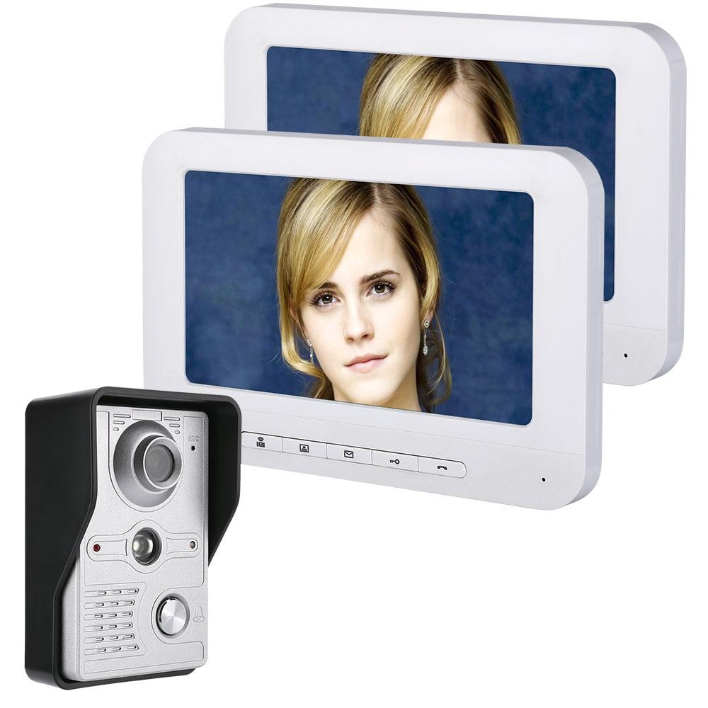 Visiophone sonnette interphone Kit Vision nocturne avec IR-CUT HD 700TVL caméra Support non-électrique gâche serrure de porte