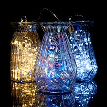 3M 5M 10M AA baterie łańcuchy świetlne drut miedziany lampki LED dekoracje lampki na urodziny girlanda na przyjęcie weselne tanie tanio Dfiolk Nieregularne CN (pochodzenie) Other 12 v Koraliki