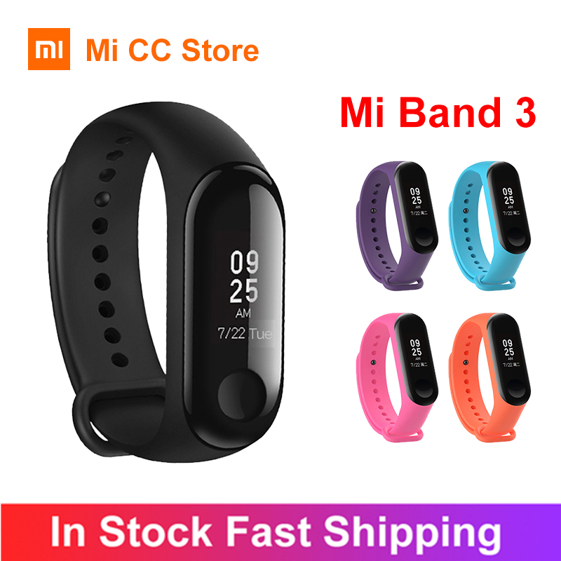 "Original Global Version Xiaomi Mi Band 3 Smart Wristband Fitness Bracelet 0.78"" OLED Screen Message Heart Rate 50M Waterproof"
