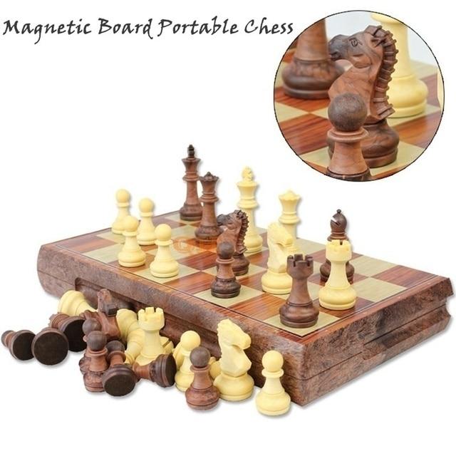 Ensemble de tournoi magnétique, tableau magnétique, 4 tailles, échecs portables internationaux pliants, cadeau de voyage 2