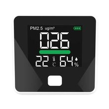 PM2.5 Detector Air Quality Detector Temperature Humidity Meter Gas Monitor LCD Screen Dust Thermometer Multi-Function Tool