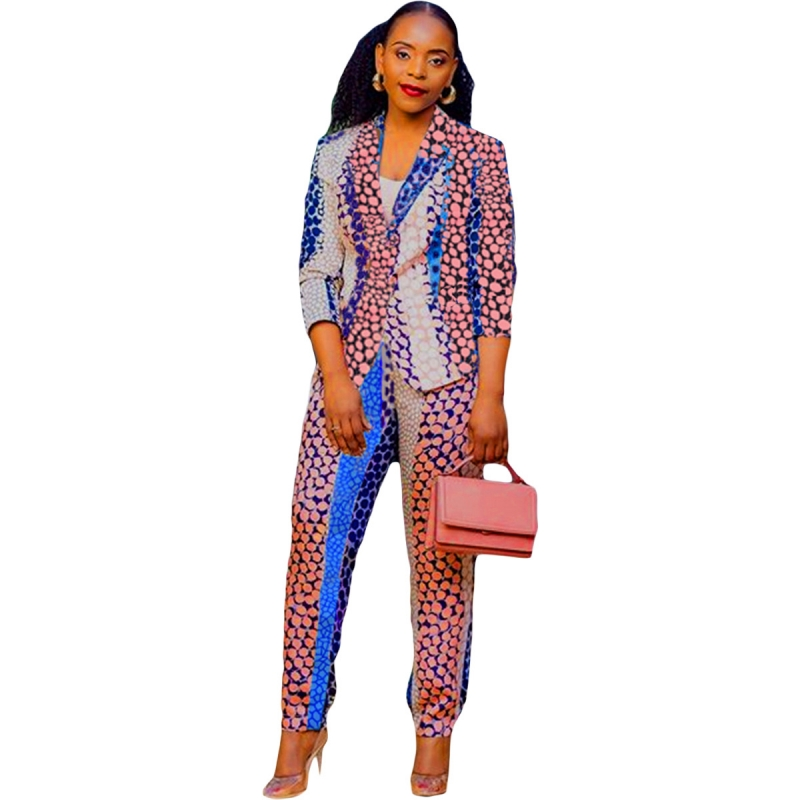 Africa Clothes 2 Piece Set African Dashiki New Dashiki Fashion Suit Top And Trousers Super Elastic Party African Sets For Lady
