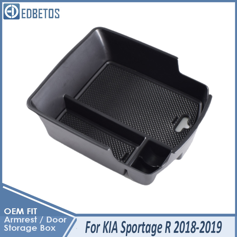 Armrest Box For Kia Sportage R 2018-19 Central Armrest Storage Box Container Holder Tray Car Organizer For Kia Sportage MK3 SL